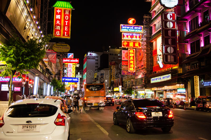 Bangkok, Thaïlande : Ville de la Chine photos libres de droits