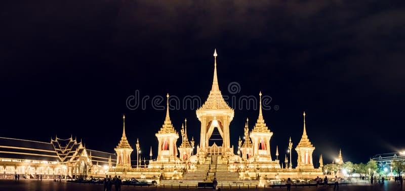 Bangkok, Thailalnd novembre 2017: Vista grandangolare da configurazione fotografia stock libera da diritti