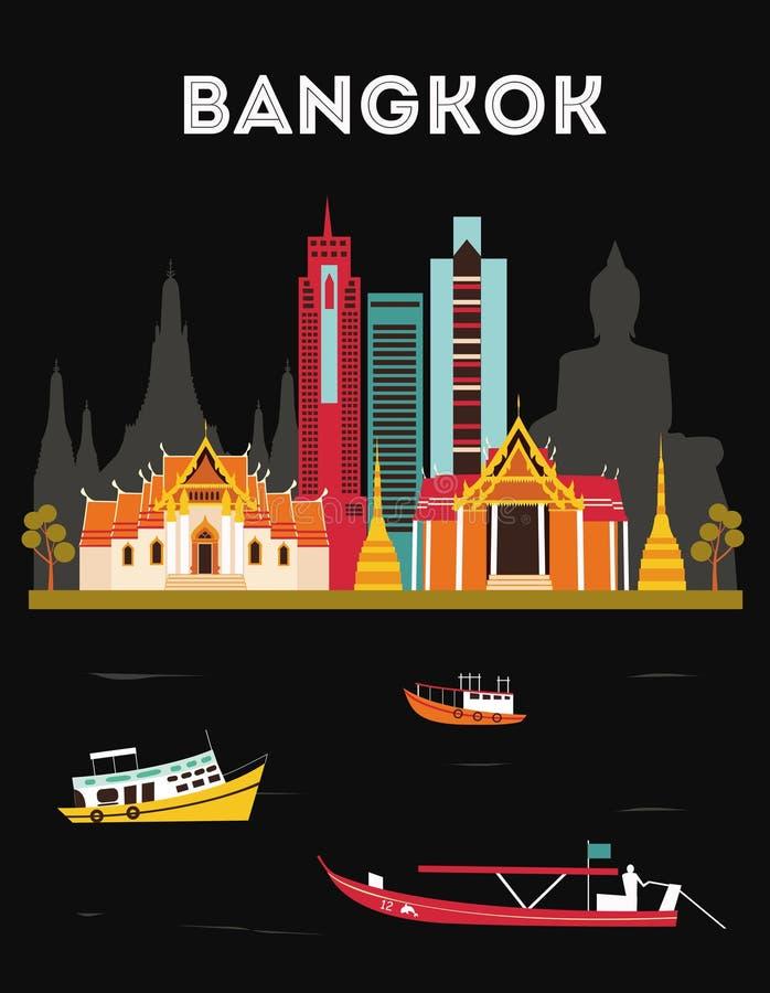 bangkok thailand royalty-vrije illustratie