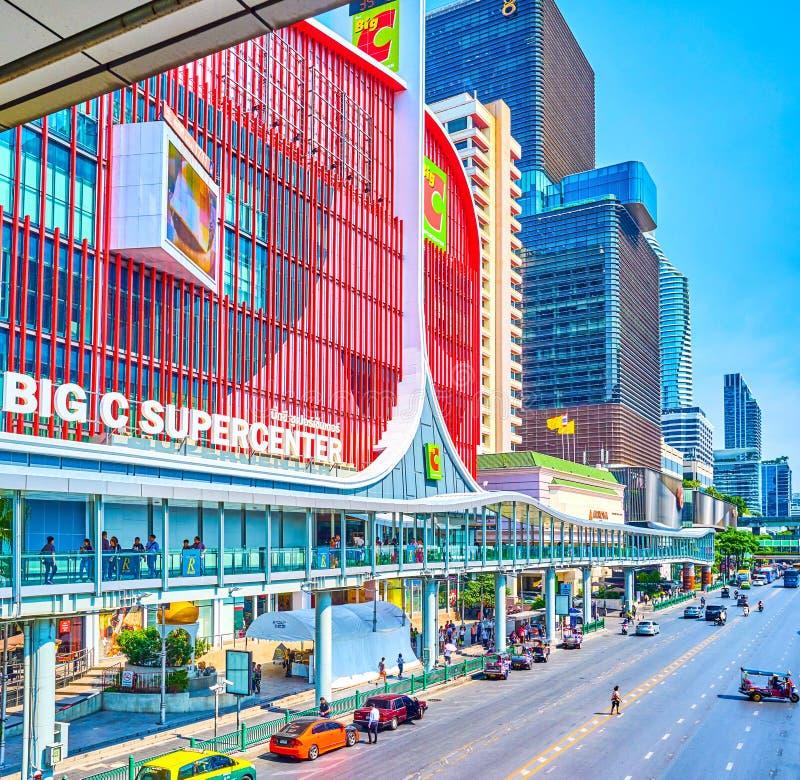 The Big C shopping mall in Bangkok, Thailand royalty free stock photos