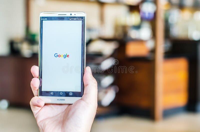 BANGKOK, THAILAND - APRIL 18, 2017: Google Icons On Web Browser