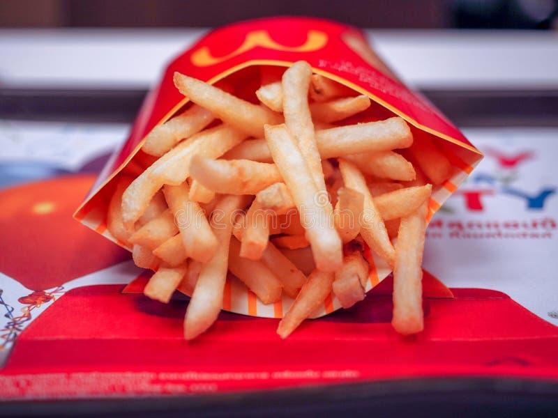 BANGKOK THAILAND. APRIL  24 2017: McDonalds French Fries stock images