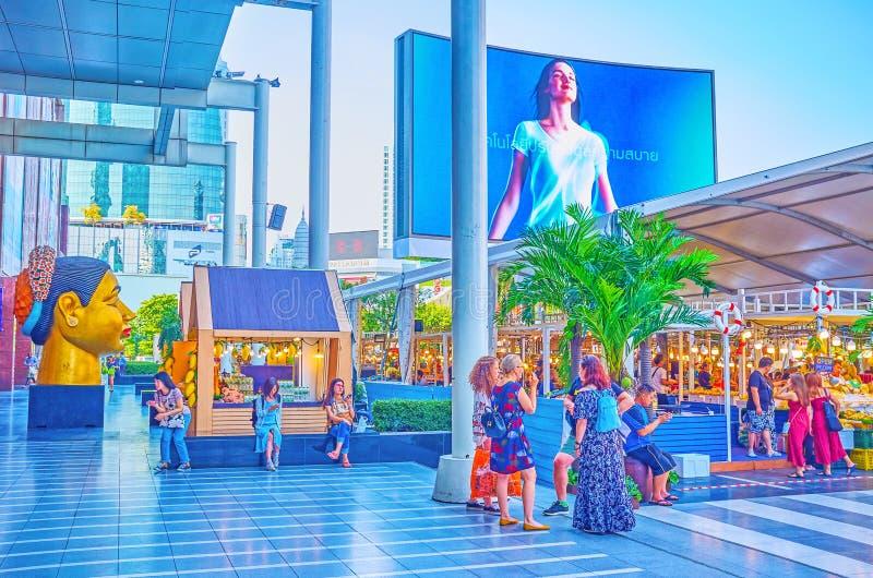 The heart of shopping in Bangkok, Thailand stock photography