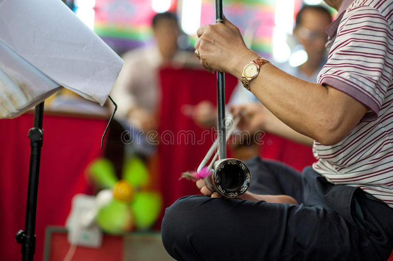 BANGKOK, THAILAND - Aprill 11: Chinese opera actor of Celebrating shrine Formation . on Aprill 11, 2015 in. Angkok Province, Thailand royalty free stock photography