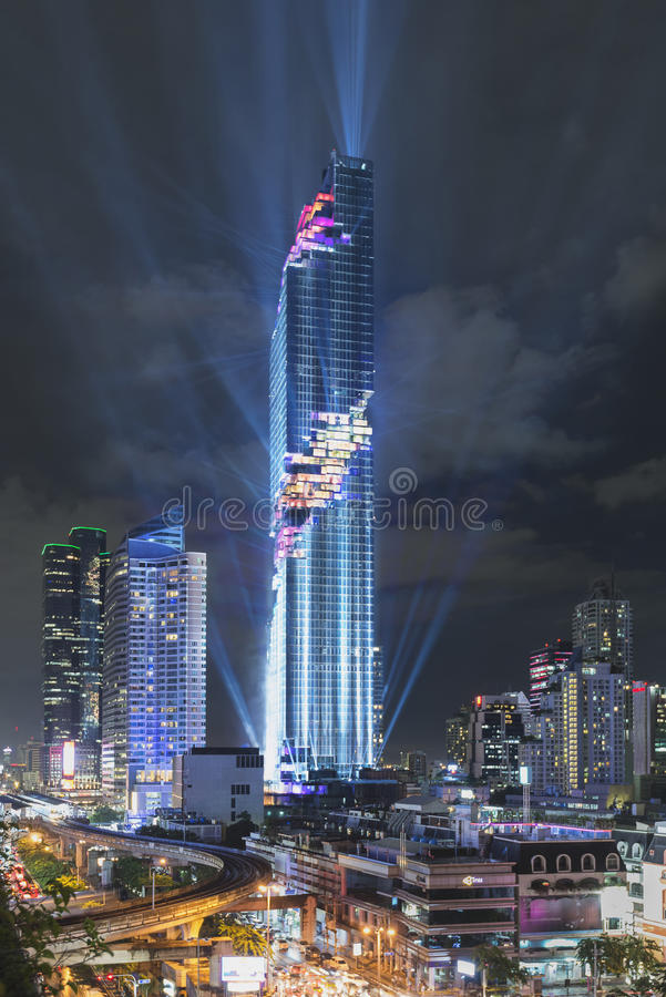 Free Bangkok, Thailand - August 29, 2016: Grand Opening Event Of MahaNakhon Building, The New Tallest Building Of Thailand Stock Images - 76502934