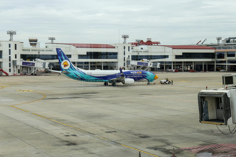Bangkok, THAILAND - August 06 2017 : Don Muang Airport, air traffic at one of the finest airports in Thailand. royalty free stock photo