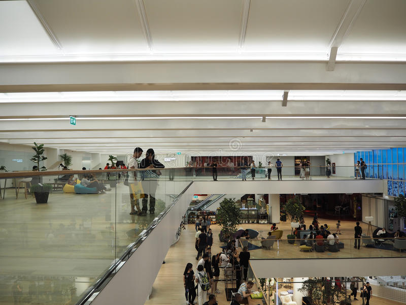 Download BANGKOK THAILAND - AUGUST 7, 2016: Interior In Siam Discovery. It  Is