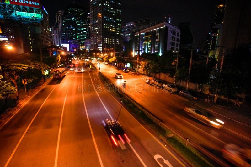 BANGKOK, THAILAND am 4. August 2014 Verkehr auf a stockfoto