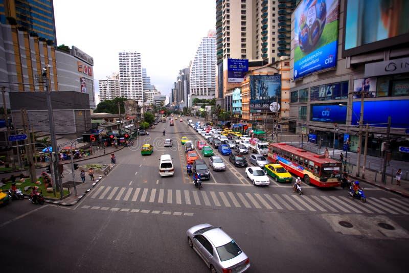 Bangkok, Thailand am 3. August 2014 Verkehr entlang a stockfotos