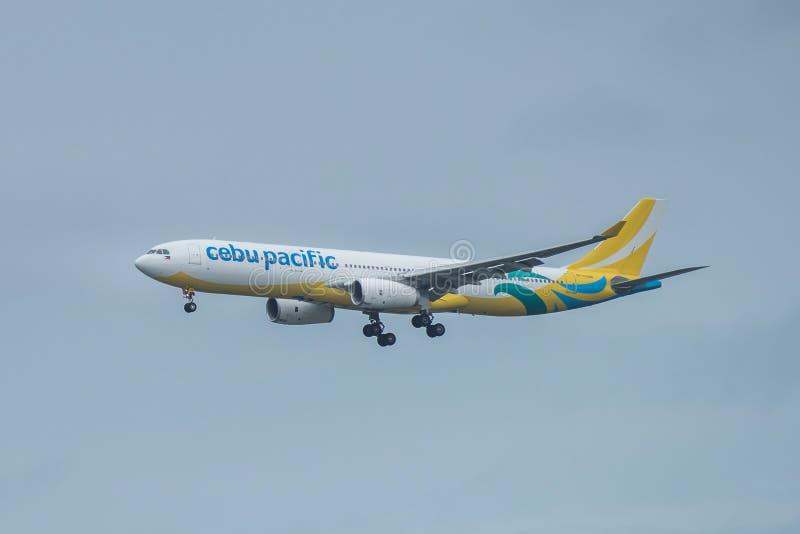 Bangkok, Thailand, 12 Augustus 2018: Cebu Pacific-Reg. Nr Rp-C3348 royalty-vrije stock afbeelding