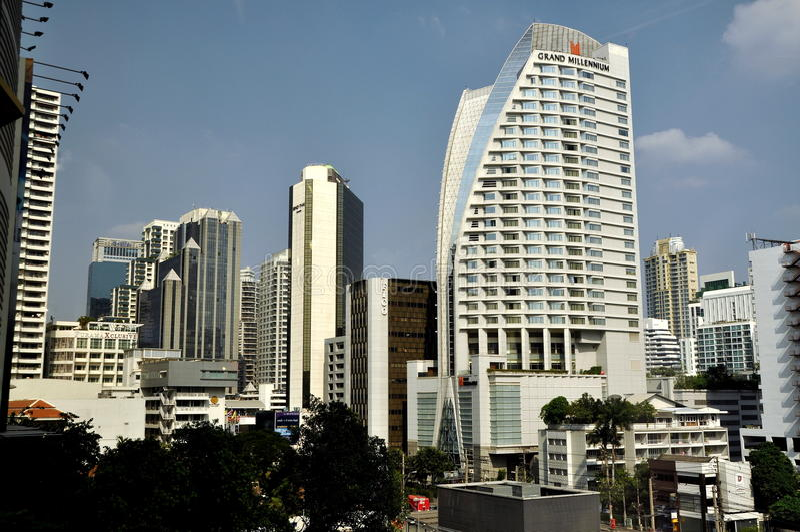 Bangkok, Thailand: City Skyline royalty free stock photo
