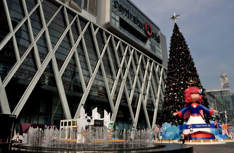 Bangkok, Thailand: De centrale Vertoning van Kerstmis van de Wereld royalty-vrije stock foto's