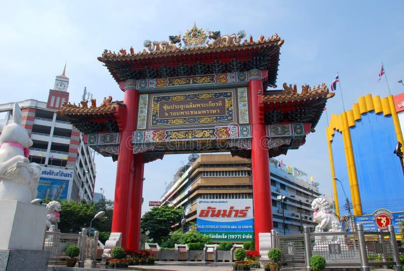 Bangkok, Thailand: De Plechtige Poort van de Chinatown royalty-vrije stock fotografie