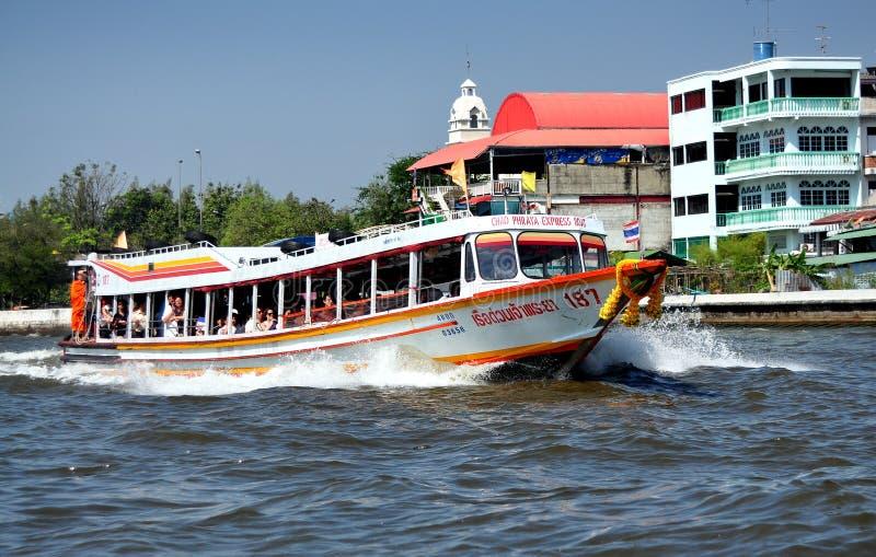 Bangkok, Thailand: De Taxi van de Rivier van Praya van Chao stock foto's