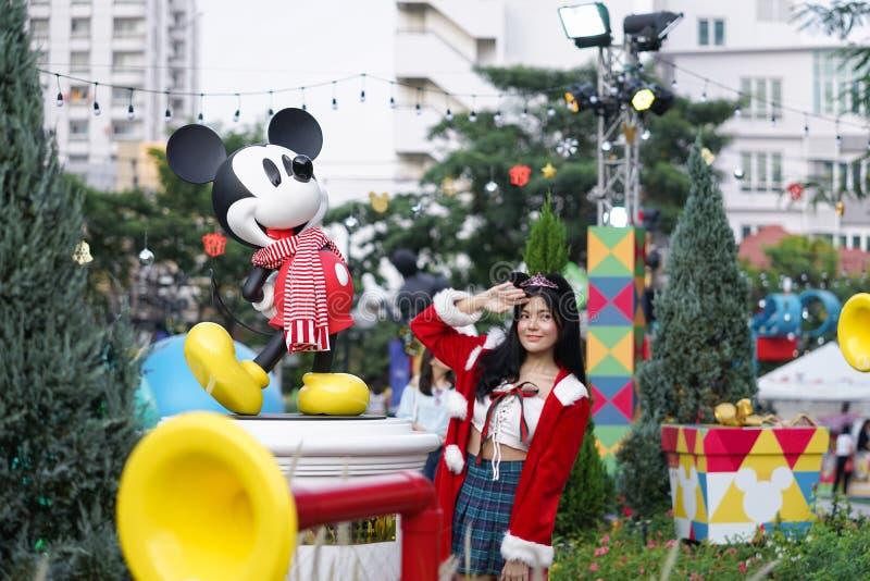 Bangkok, Thailand - Dec 5, 2018 : A photo of Mickey Mouse, famous character mascot from Walt Disney, decorated at King Power Rang stock photography