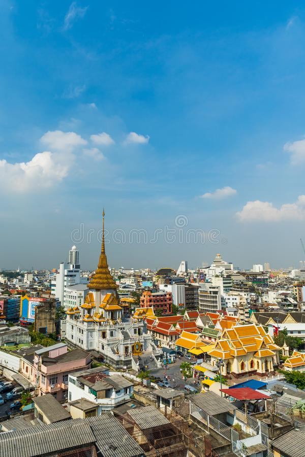 Wat traimitr withayaram temple in Bangkok, Thailand stock photos