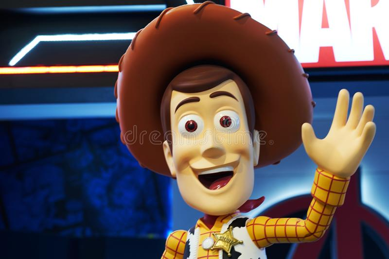 Bangkok,Thailand,Dec29 ,2018,Woody actor statue from Toystory movie royalty free stock photography