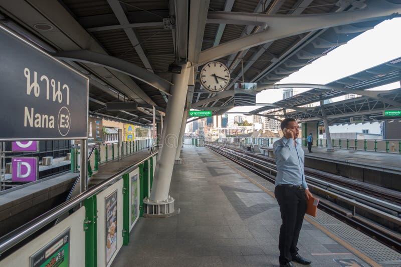 BANGKOK, THAILAND - December 25, 2017: Bangkok Sky Train or BTS, Nana Station. stock images