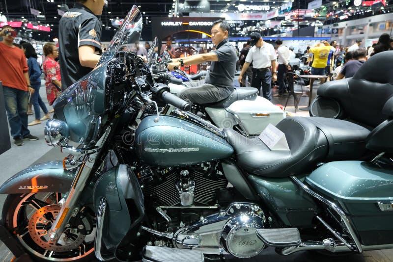 Bangkok, Thailand - December 1, 2019 : big motorbike& x27; Harley Davidson in Motor Expo 36th 2019 at Impact Exhibition Thailand stock images