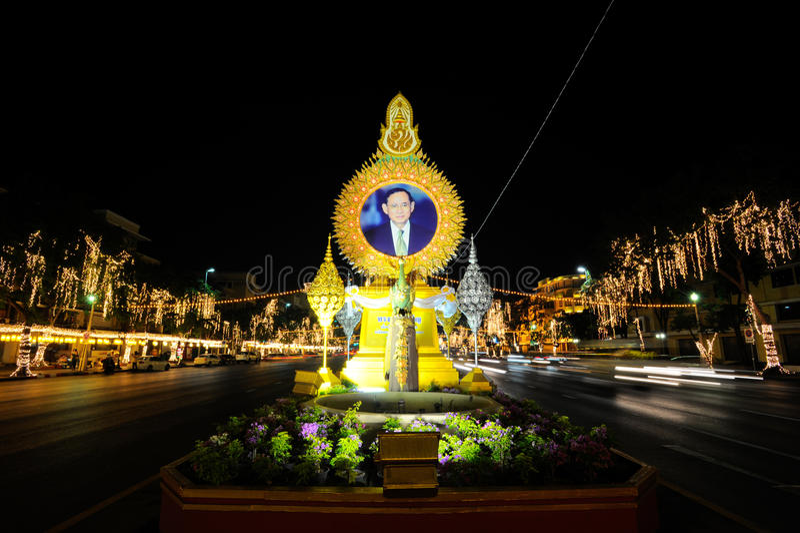 BANGKOK THAILAND - DECEMBER 27,2015: Färgrikt av den fastival lampan royaltyfri bild