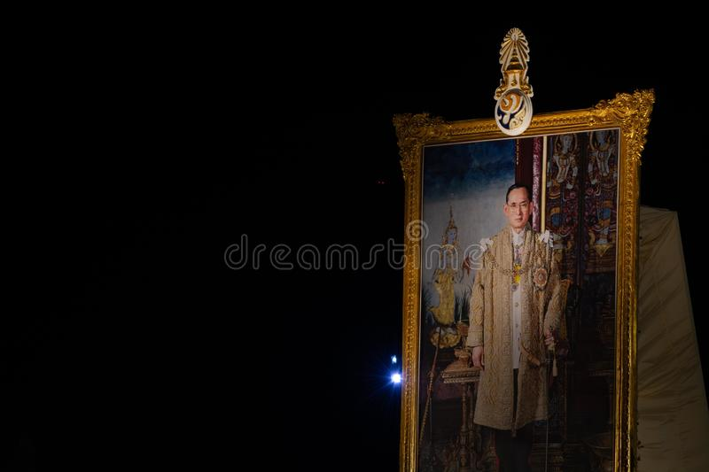 A picture of the King Rama 9 stock images