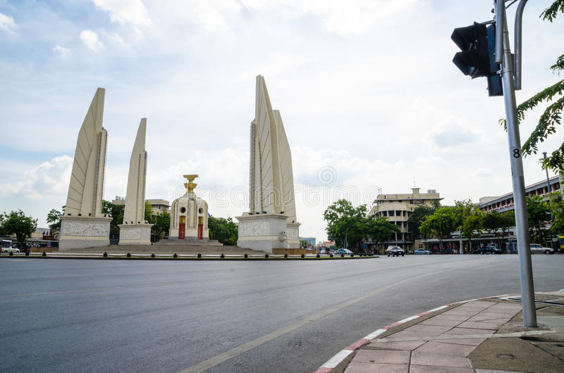 Bangkok, Thailand : Democracy monument royalty free stock image