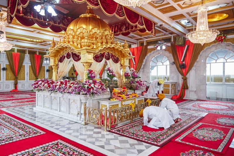 BANGKOK, THAILAND - 13. DEZEMBER 2014: Schöner Innenraum des Sikhtempels in Bangkok, Thailand stockbild
