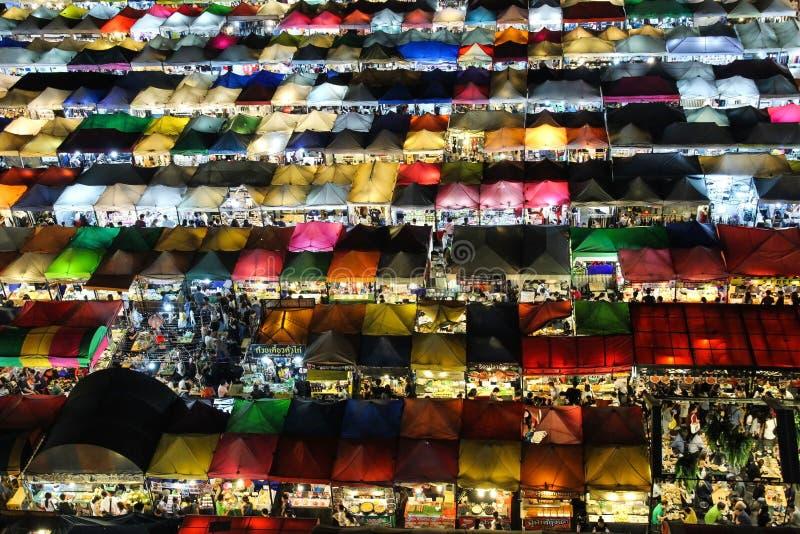 Bangkok thailand The Train Night Market Ratchada, stock images