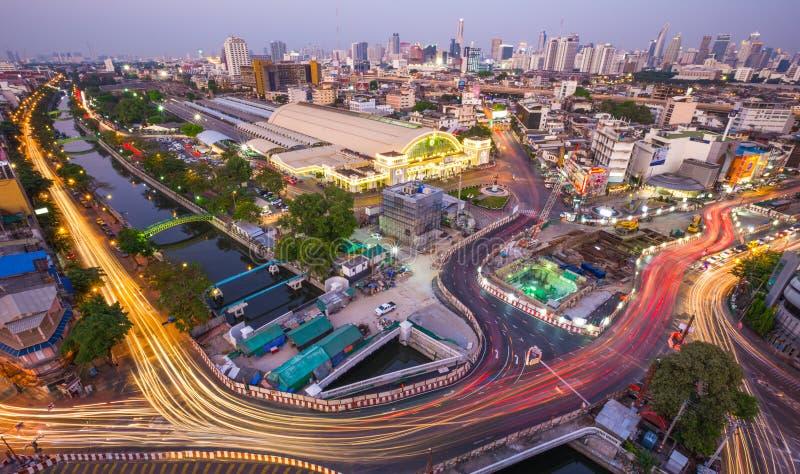 BANGKOK Thailand-Februari 5: Bangkok central drevstation Hu arkivbild