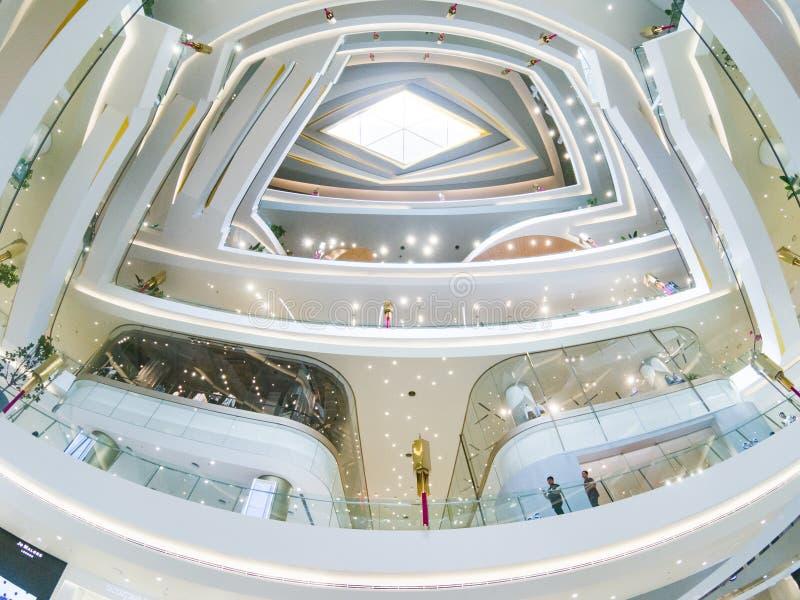 BANGKOK, THAILAND - FEBRUARY 2019: Interior of Icon Siam shopping center in Bangkok royalty free stock photos