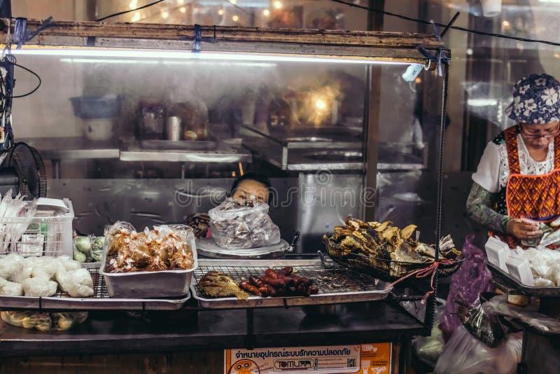 BANGKOK, THAILAND - FEBRUARY 2, 2018: Street food in Bangkok, Thailand, Asia. stock photos