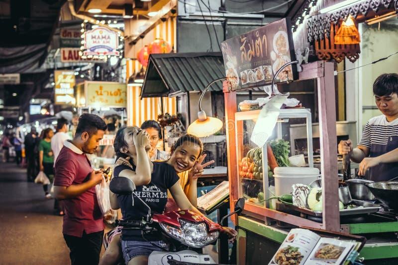 BANGKOK, THAILAND - FEBRUARY 2, 2018: Street food in Bangkok, Thailand, Asia. stock photo