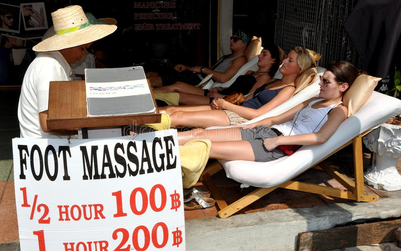 Anxiety and Massage - Are They Compatible?  bangkok-thailand-foot-massage-spa-23411413