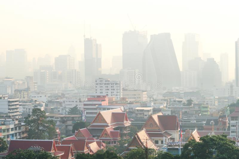 Bangkok, Thailand - 30 Jan 2019 : Air Pollution with dust pm 2.5 in Bangkok, Thailand stock image