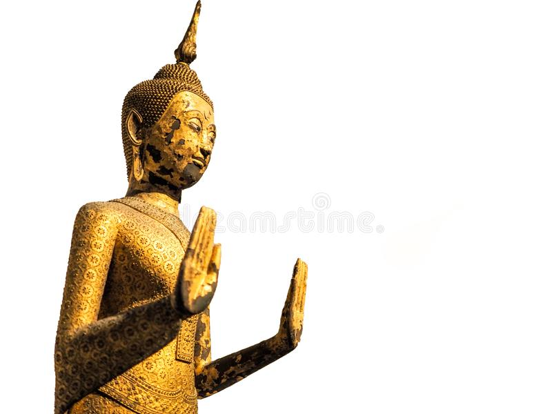 Bangkok, Thailand - Jan 9, 2019: Buddha statue in national museum Bangkok.  stock photos
