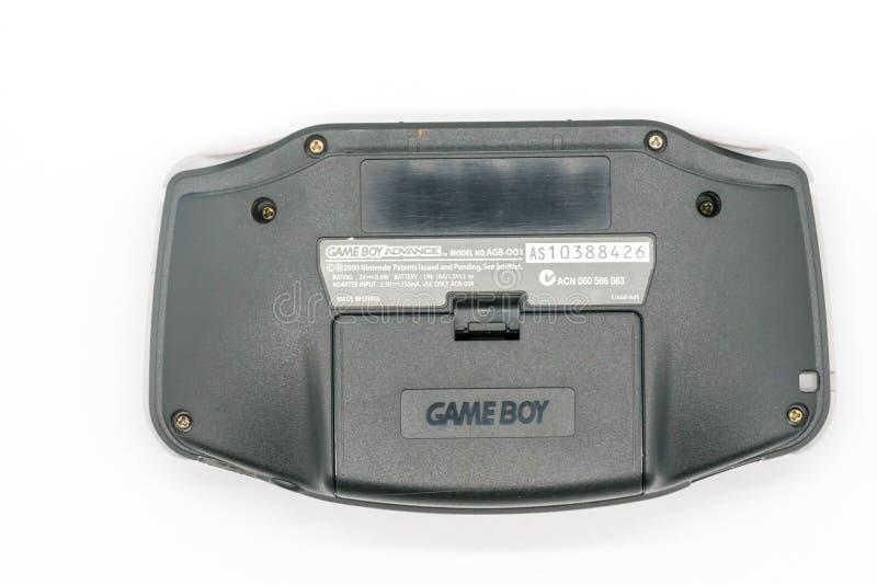 Gameboy Advance : Bangkok, Thailand - Jan 3, 2018. Bangkok Thailand - Jan 3, 2018: Gameboy Advance, Vintage portable game by Nintendo. Illustrative, editorial royalty free stock images