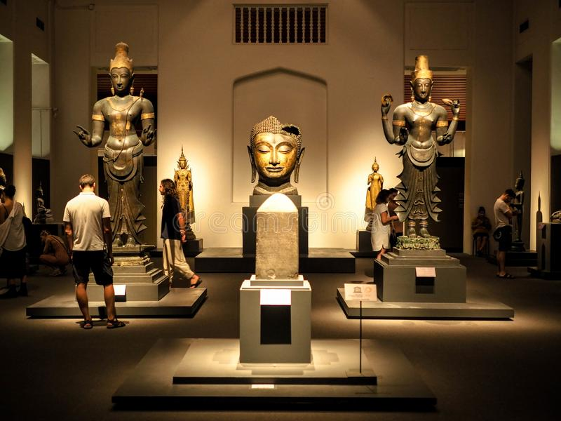 Bangkok, Thailand - Jan 9, 2019: the largest collection of Thai art and artifacts in the National Museum in Bangkok,Thailand. Bangkok, Thailand - Jan 9, 2019 royalty free stock images