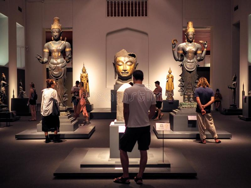 Bangkok, Thailand - Jan 9, 2019: the largest collection of Thai art and artifacts in the National Museum in Bangkok,Thailand. Bangkok, Thailand - Jan 9, 2019 royalty free stock photography