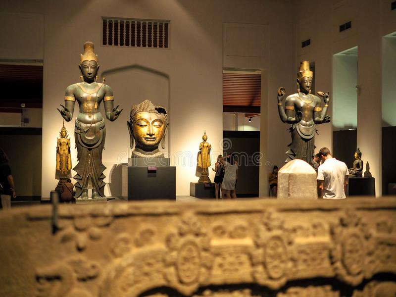 Bangkok, Thailand - Jan 9, 2019: the largest collection of Thai art and artifacts in the National Museum in Bangkok,Thailand. Bangkok, Thailand - Jan 9, 2019 royalty free stock photos