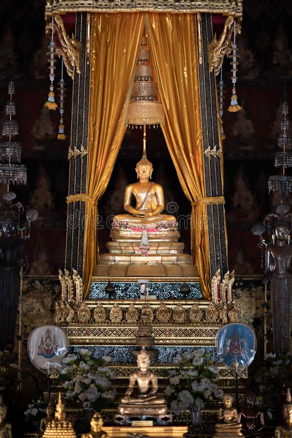 Bangkok, Thailand - Jan 25, 2018: Phra Buddha Sihing in the Phutthai Sawan Chapel of the National Museum. It  is highly venerated. Bangkok, Thailand - Jan 25 royalty free stock image