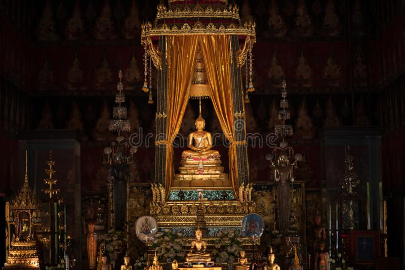 Bangkok, Thailand - Jan 25, 2018: Phra Buddha Sihing in the Phutthai Sawan Chapel of the National Museum. It  is highly venerated. In Thailand, being regarded royalty free stock image