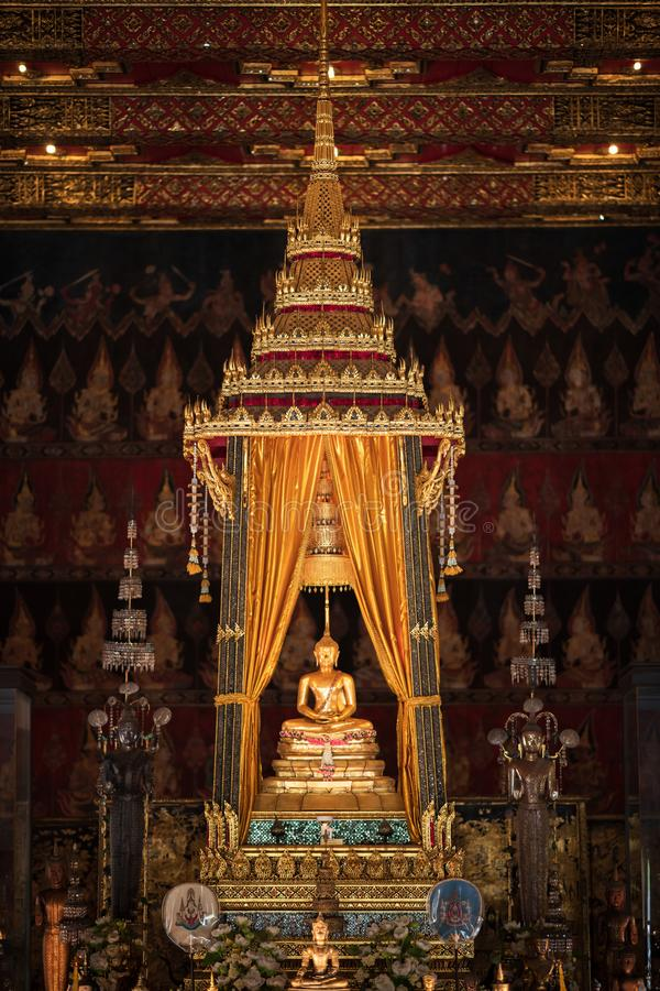 Bangkok, Thailand - Jan 25, 2018: Phra Buddha Sihing in the Phutthai Sawan Chapel of the National Museum. It  is highly venerated. In Thailand, being regarded royalty free stock photo