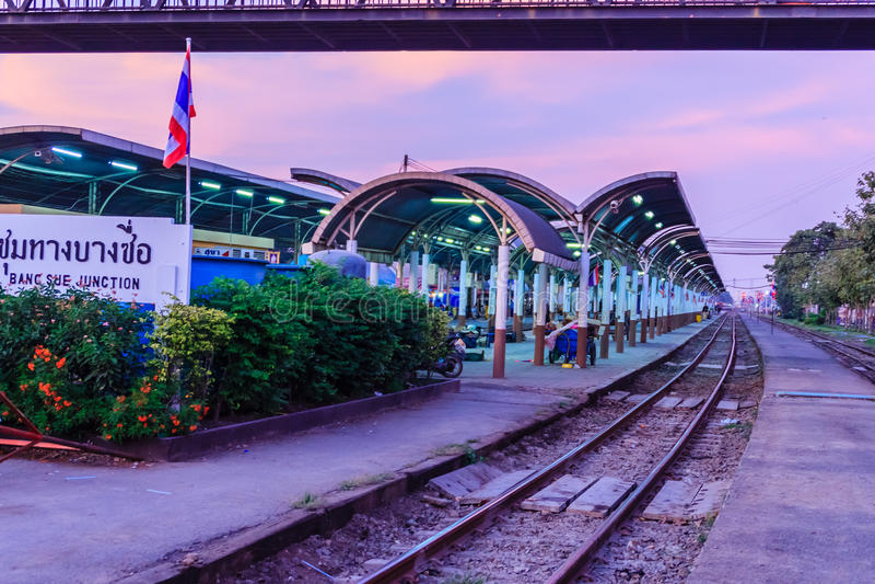 BANGKOK, THAILAND - 28. Januar 2017: Schön von Bangsue Junc lizenzfreie stockfotografie