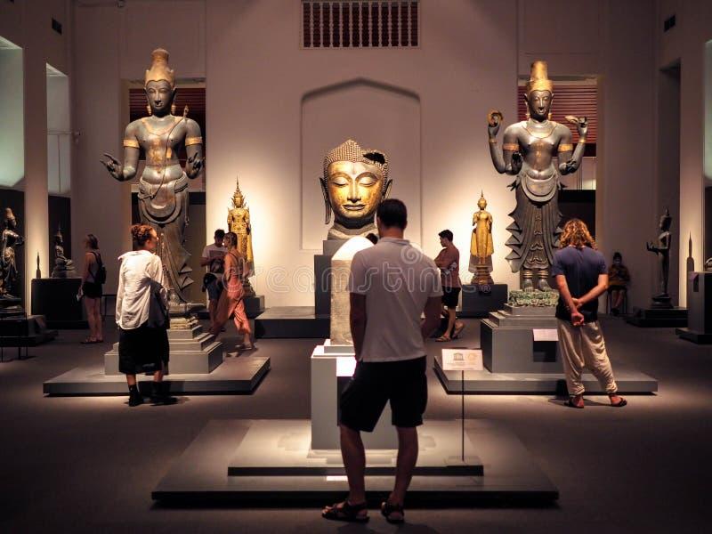 Bangkok, Thailand - 9 Januari, 2019: de grootste inzameling van Thaise kunst en artefacten in het Nationale Museum in Bangkok, Th royalty-vrije stock fotografie