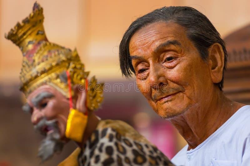 Bangkok, Thailand - Januari 16 2016: Waxwork van M. Sakorn Yanke royalty-vrije stock fotografie
