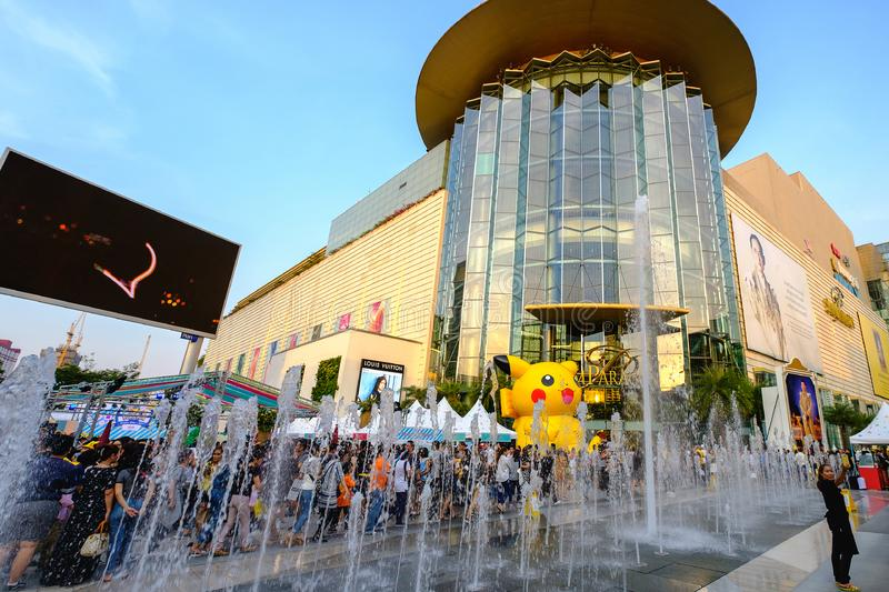 Crowd in Pokemon Everday 2017, Thailand`s kid event at Siam Para stock image