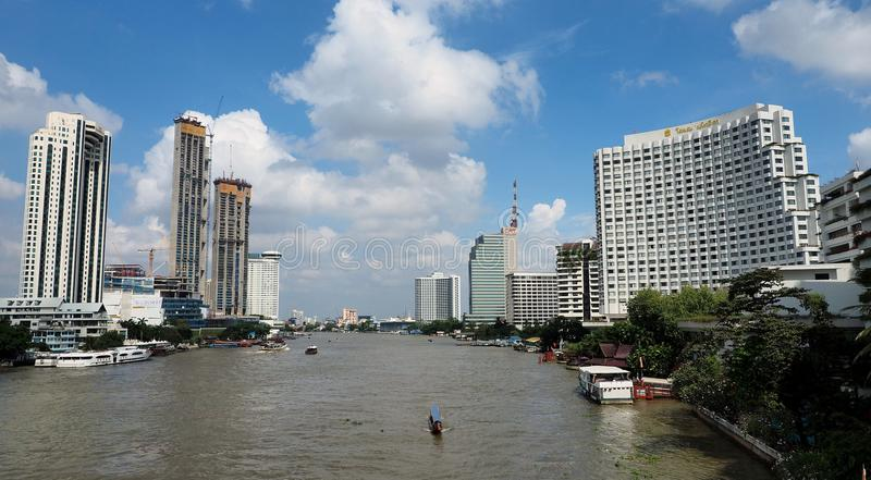 Landmark buildings and iconic hotels in Bangkok royalty free stock image