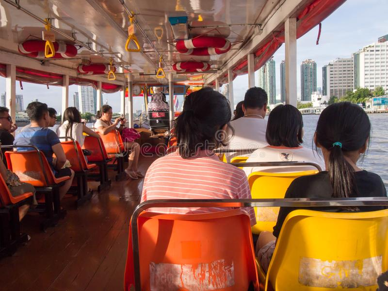 BANGKOK, THAILAND - JANUARY 29 : Thai people passengers and fore royalty free stock images