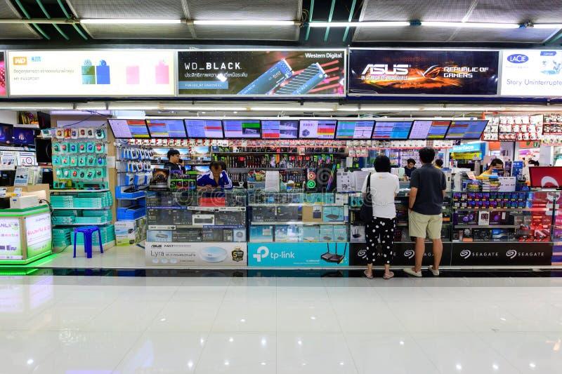 Bangkok, Thailand - Juli 27, 2019: Computeropslag bij Fortuinstad stock afbeelding