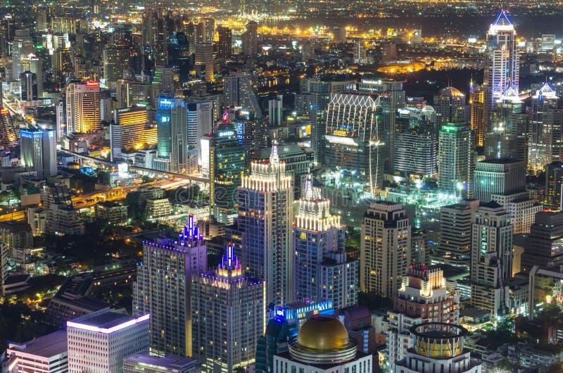 BANGKOK, THAILAND - JULI 13: Hoogste mening van bai-Yok2 de bouw die royalty-vrije stock foto